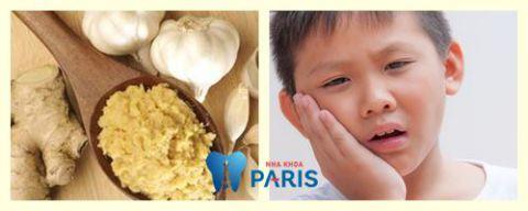 cách chữa sâu răng tại nhà với gừng và tỏi