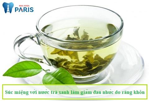 Nước trà xanh cũng là một cách chữa đau răng khôn tại nhà hữu hiệu